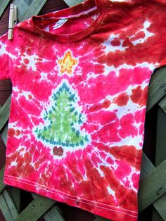 how to make christmas tie dye shirts
