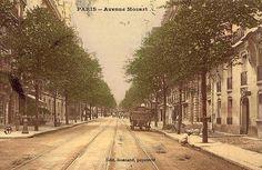 avenue Mozart - Paris 16ème Mozart, Arrondissement, Outdoor, Time Travel, Parisians, Antique Pictures, Outdoors, Outdoor Games