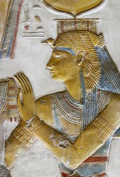 'Isis in Horus Shrine at Abydos'.