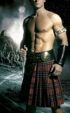 Nathan Kamp, model of countless romance covers, pulls off the sexy kilt look like no other~