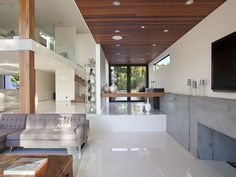 contemporist - modern architecture - 1060 woodland drive - beverly hills - california - interior view - living room