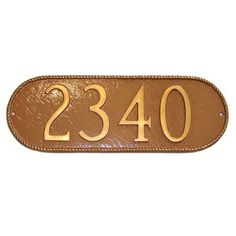 Montague Metal Products Rope Oblong Address Plaque Finish: Antique Copper / Copper, Mounting: Wall