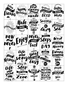 Free Printable-Inspirational Quote Stickers for your Planner