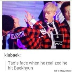 When im down… Tao's face always makes me laughxD