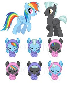 Boys have bluish-purplish wraps and girls have pink- Rainbow Splash Blue Hawk- Thunder Dash- ADOPTED Tipper - Dash- they are all newborns- only adopt one My Little Pony Baby, Baby Pony, My Little Pony Princess, My Little Pony Drawing, Mlp Adoption, Coraline Art, My Little Pony Wallpaper, My Little Pony Characters, Mlp Fan Art