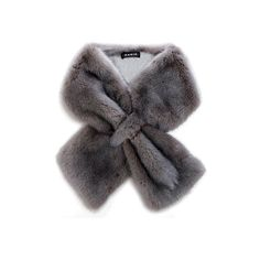 Akris gray long-hair mink collar; $1,580 found on Polyvore