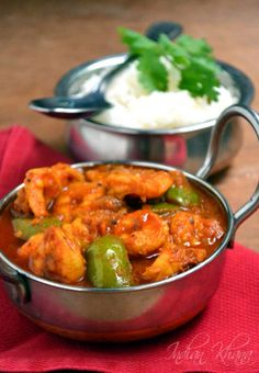 Kadai Prawn (Jhinga) or Prawn Capsicum curry is easy prawn curry with capsicum and spices. Tasty Fish Recipe, Prawn Masala, Prawn Curry, Garam Masala, Fried Fish Recipes, Seafood Recipes, Cooking Recipes, Prawn Dishes, Culture