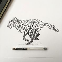 Poetic Illustrations Depict Magic Scene That Trees Sprout Into Animal Shapes | Design Swan