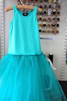Tutu dress.  Voile, Thule, Tank top.  Birthday dress, fairy party.