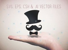 "Vector Shapes - ""Zidler"" Hat, Mustache & Bowtie - in .eps, .svg, .csh and .ai formats."