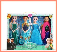 Disney 30 cm Dolls Frozen Princess Elsa Anna Toys Ice and Snow Doll Change clothes Accessories Toy for Girl Christmas Gift Suit