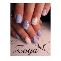 """If you're unfamiliar with nail trends and you hear the words """"coffin nails,"""" what comes to mind? It's not nails with coffins drawn on them. It's long nails with a square tip, and the look has. Beach Nail Designs, Best Nail Art Designs, Acrylic Nail Designs, Beach Nail Art, Designs On Nails, Nail Designs For Spring, Shellac Designs, Toenail Art Designs, Light Purple Nails"""