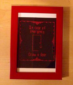 Framed Beetlejuice Cross Stitch by StringsandNeedles on Etsy, $27.00