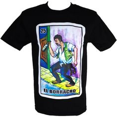 Men's Borracho Loteria Funny Drinking Shirt 2XL | Amazon.com