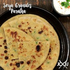 """JOOS Food on Instagram: """"This healthy paratha recipe will keep you satiated for hours . 💪🏻 Soya granules  with whole wheat flour makes a very filling and delicious…"""""""