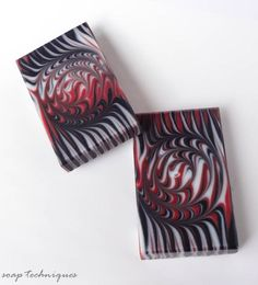 Black and Red soap - spiral swirl by Soap Techniques