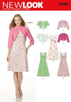 Womens Dress and Bolero Pattern 6935 New Look Patterns - possibility for white jacket