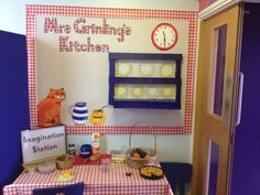 Mrs Grinling's kitchen play area. The lighthouse keepers lunch. Nicky Jevon