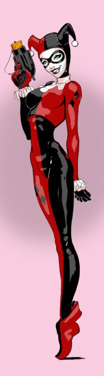 Harley Quinn // pencils, inks and colors by Joe Benitez (~joebenitez,2011)