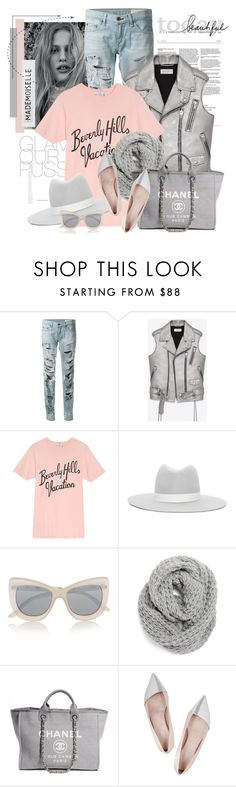 """""""Untitled #2440"""" by bellerodrigues on Polyvore featuring rag & bone, Yves Saint Laurent, Wildfox, Janessa Leone, Le Specs, Halogen, Chanel, Giambattista Valli, Rosanna and women's clothing"""