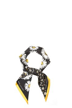 The Marc Jacobs Daisies-silk skinny scarf