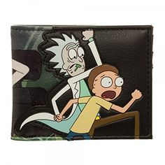 768abef2d28 Adult Swim Rick and Morty PU Faux Leather Bifold Wallet Rick And Morty  Characters