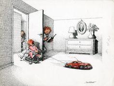 Enfants par Claude Serre - Illustration