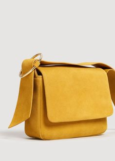 Leather cross body bag - Woman | MANGO Netherlands
