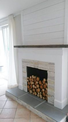 9 Far-Sighted Hacks: Black Fireplace Rustic fireplace with tv above house.Fireplace And Mantels Ideas fireplace and mantels ideas.Linear Fireplace With Tv Above. Faux Fireplace Mantels, Fireplace Logs, Shiplap Fireplace, Marble Fireplaces, Fireplace Remodel, Fireplace Ideas, Concrete Fireplace, Cottage Fireplace, Fireplace Modern