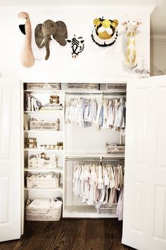 Join designer Amy Berry as she shares her Baby Nursery Decor inspiration and how Gray's Parker series really makes the room joyful Baby Nursery Decor, Baby Bedroom, Nursery Room, Kids Bedroom, Nursery Ideas, Bedroom Stuff, Nursery Design, Baby Girl Closet, Nursery Closet Organization