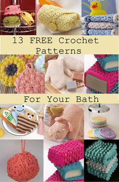 Crochet Patterns For Your Bath These crochet patterns / tutorials are available for free. Full Post: Crochet Patterns For Your Bath Crochet Home, Love Crochet, Crochet Gifts, Diy Crochet, Ravelry Crochet, Crochet Pillow, Crochet Ideas, Love Knitting, Knitting Patterns
