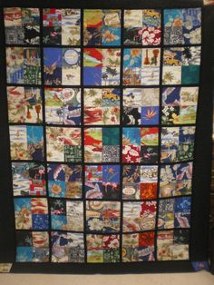 Bill& Hawaiian Shirt Quilt - Quilters Club of America Hawaiian Quilts, Hawaiian Theme, Hawaiian Print, Pattern Blocks, Quilt Patterns, Photo Quilts, Scrappy Quilts, Machine Quilting, Quilt Making