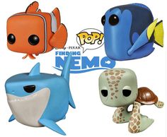 Vinyl Figures I need these for my nemo bathroom Disney Pop, Disney Pixar, Disney Stuff, Pop Vinyl Figures, Funko Pop Display, Funko Pop Dolls, Pop Batman, Pop Figurine, Funk Pop