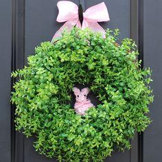 Easter Wreath  Spring Wreath  Boxwood by EverBloomingOriginal, $60.00