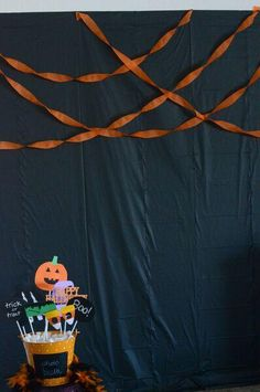 DIY Halloween Photo Booth: Party Props & Backdrop Ideas