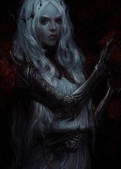 Fantasy digital art by exellero High Fantasy, Fantasy Girl, Fantasy Rpg, Medieval Fantasy, Fantasy Artwork, Fantasy Women, Female Character Inspiration, Fantasy Inspiration, Character Portraits