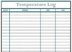Horse Health Log – Temperature / Vital Statistics Log | Helpful Horse Hints