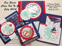 Sea Street Class Kit to Go with How To Video, Kay Kalthoff is Stamping to Share with Stampin' Up!