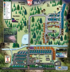 Map of Misty Mountain Campground