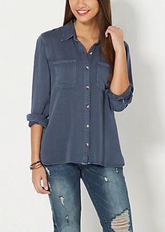 Twill Shirt by Wild Blue x Sadie Robertson™