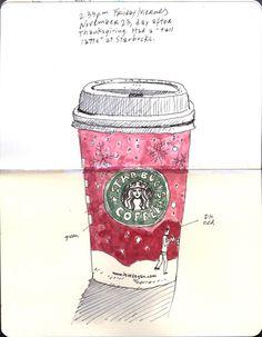 . Starbucks on Moleskine .