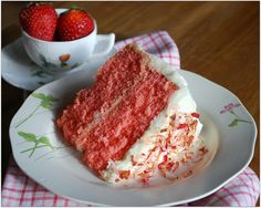 Southern Style Strawberry Cake with Coconut Cream Cheese Frosting.
