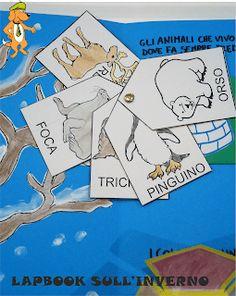 A Scuola con Poldo: Un lapbook sull'inverno D Book, Pixel Art, Education, Winter, Irene, Laptop, Party, World, Finland