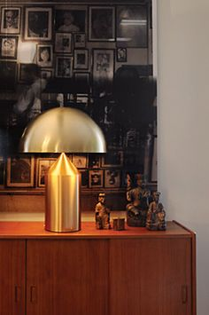 Oluce - Lampade da Tavolo : Atollo - 233 oro