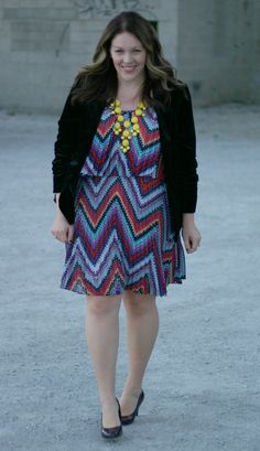 Megan of Chasing Davies went bold and bright in an LT dress for a fall wedding.