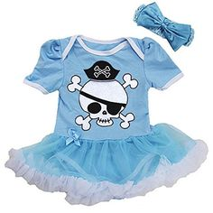 Baby Pirate Costume Bodysuit (4 colours)