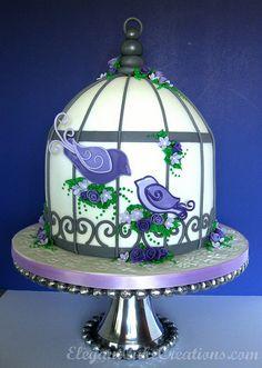 Birdcage Baby Shower Cake by Elegant Cake Creations AZ, via Flickr