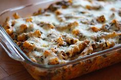 Baked Ziti with Spinach - YOU MUST TRY THIS!!!  I added 1lb ground turkey (browned it and added it to the recipe when I added the sauce mixture to the pasta) and IT IS FREAKING AWESOME!!  Dani & Roy both loved it!! 10 out of 10... SERIOUSLY!!
