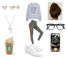 """Morning Starbucks"" by roxy-crushlings ❤ liked on Polyvore featuring adidas Originals, Casetify and BERRICLE"