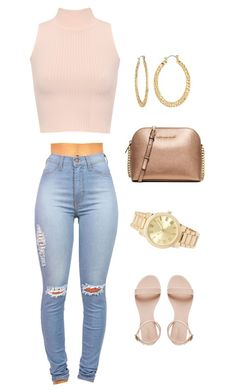 """Untitled #128"" by jadechanteon on Polyvore featuring WearAll, MICHAEL Michael Kors, Fragments and Forever 21"